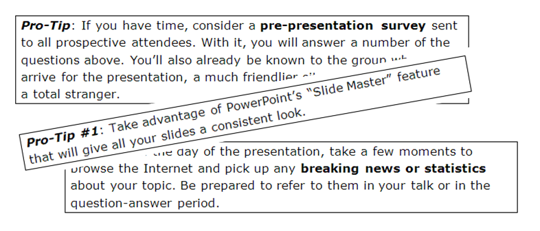 Protips for Powerful Presentations